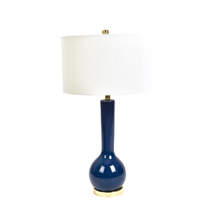 "Ceramic Skinny Table Lamp 32"", Navy Blue"