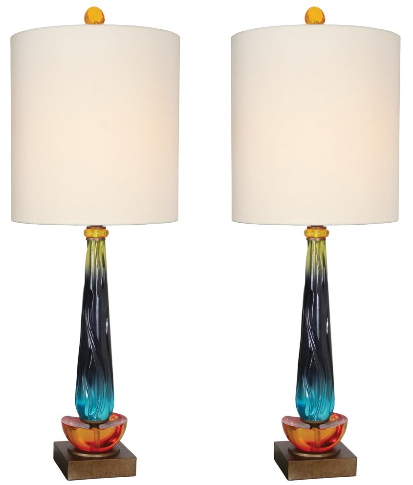 "Van Teal 540472PR Hanzi 36"" Table Lamps (Set of 2)"