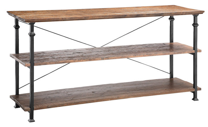 57251 - Poplar Estates Three Shelf Console Table