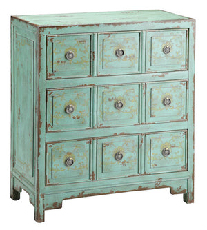 57295 - Anna Apothecary Vintage Green Chest, Accent Chests, Stein World, - ReeceFurniture.com - Free Local Pick Ups: Frankenmuth, MI, Indianapolis, IN, Chicago Ridge, IL, and Detroit, MI