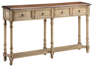 57331 - Gentry Antique Dustry Linen Console Table, Accent Consoles, Stein World, - ReeceFurniture.com - Free Local Pick Ups: Frankenmuth, MI, Indianapolis, IN, Chicago Ridge, IL, and Detroit, MI
