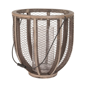 594028 Barrel Wire Atlas Hurricane Vase, Vase/Urn, Elk Home, - ReeceFurniture.com - Free Local Pick Ups: Frankenmuth, MI, Indianapolis, IN, Chicago Ridge, IL, and Detroit, MI