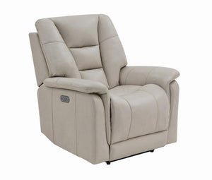 G609021 - Pillow Top Arms Power^3 Recliner - Cream or Chestnut