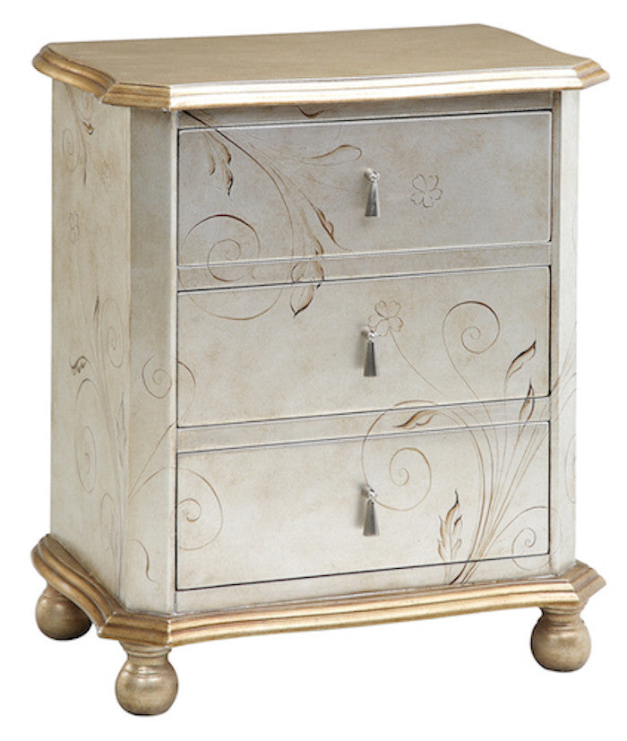 64702 - Celeste Silver, Gold Accent Chest, Accent Chests, Stein World, - ReeceFurniture.com - Free Local Pick Ups: Frankenmuth, MI, Indianapolis, IN, Chicago Ridge, IL, and Detroit, MI