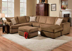 6800 Cornell Cocoa Sectional, Stationary Sectionals, American Furniture Manufacturing, - ReeceFurniture.com - Free Local Pick Up: Frankenmuth, MI