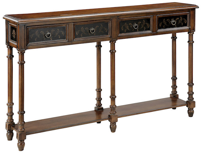 75782 - Taylor Black, Wood Tone Console Table - Free Shipping!, Accent Consoles, Stein World, - ReeceFurniture.com - Free Local Pick Ups: Frankenmuth, MI, Indianapolis, IN, Chicago Ridge, IL, and Detroit, MI