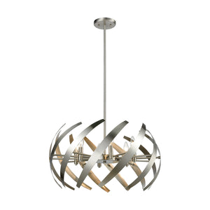 Carthage - Chandelier - Satin Nickel