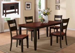 8202 Black & Cherry 5 Piece Dining, Dining, American Imports, - ReeceFurniture.com - Free Local Pick Ups: Frankenmuth, MI, Indianapolis, IN, Chicago Ridge, IL, and Detroit, MI