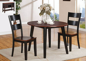 8202 Black & Cherry Drop Leaf 3 Piece Dining, Dining, American Imports, - ReeceFurniture.com - Free Local Pick Ups: Frankenmuth, MI, Indianapolis, IN, Chicago Ridge, IL, and Detroit, MI
