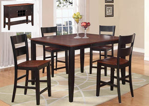 8202 Black & Cherry Pub 5 Piece, Pub Dining, American Imports, - ReeceFurniture.com - Free Local Pick Ups: Frankenmuth, MI, Indianapolis, IN, Chicago Ridge, IL, and Detroit, MI