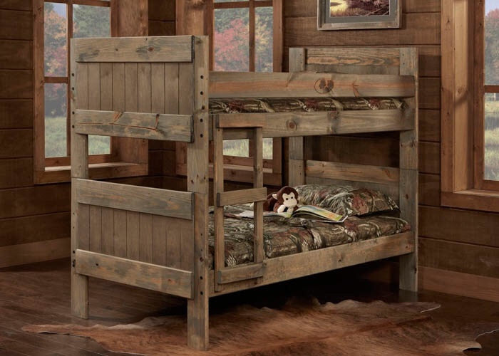 511 Mossy Oak Bunkbed - Twin/Twin Complete Bunkbed With Ladder, Youth Bedroom-Bunks-Futons, Simply Bunk Beds!, - ReeceFurniture.com - Free Local Pick Ups: Frankenmuth, MI, Indianapolis, IN, Chicago Ridge, IL, and Detroit, MI