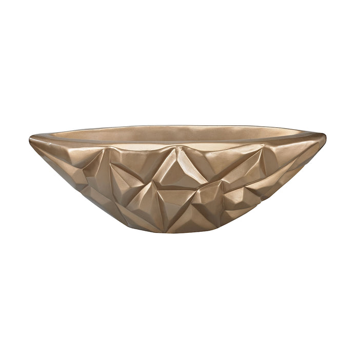 9166-036 Qattara 10-Inch Bowl In Champagne Gold