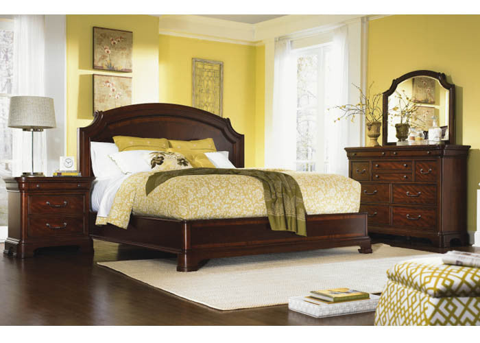 9180 Evolution - Complete Scroll Top Platform Bed - Queen