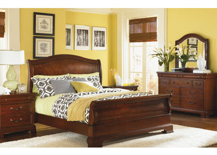 9180 Evolution - Complete Sleigh Bed - Queen