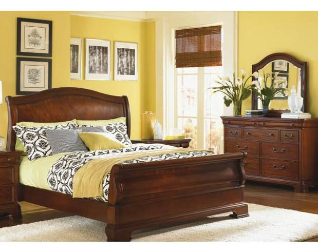 9180 Evolution - Queen Sleigh Bed/Dresser & Dresser Mirror