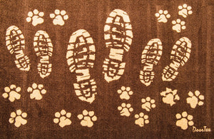 Doortex Rectangular Wash Room Mat - Dog/Boot Prints, Floor Mats, FloorTexLLC, - ReeceFurniture.com - Free Local Pick Ups: Frankenmuth, MI, Indianapolis, IN, Chicago Ridge, IL, and Detroit, MI