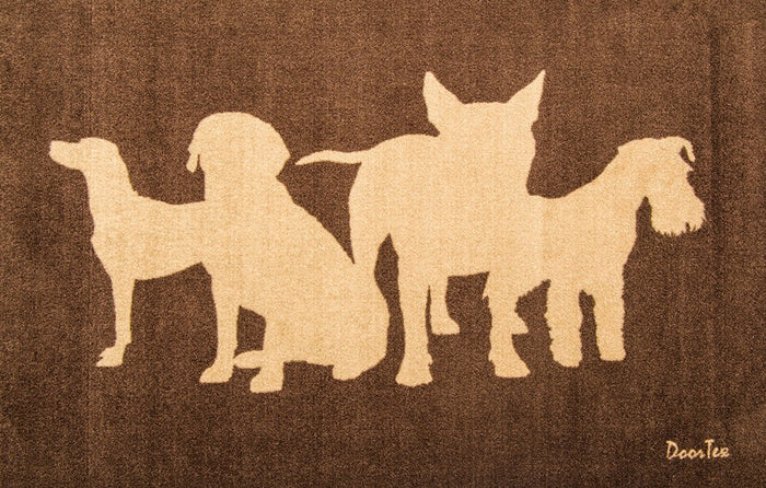 Doortex Rectangular Wash Room Mat - Dog/Boot Prints