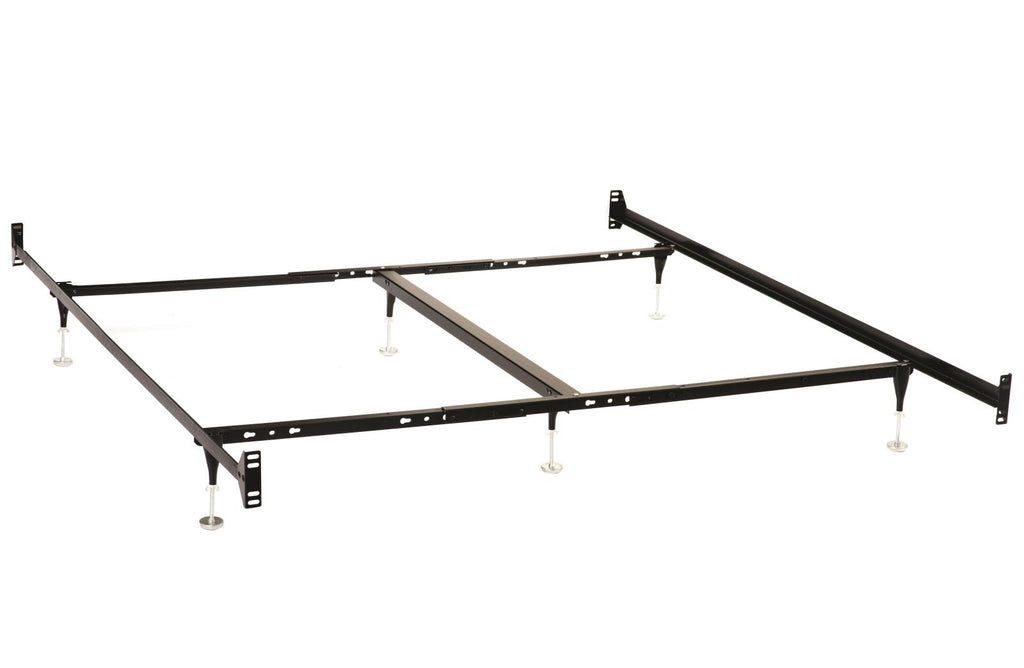 G9602 - Twin/Full/Queen/Eastern King Bed Frame (Headboard and Footboard) - Black - ReeceFurniture.com