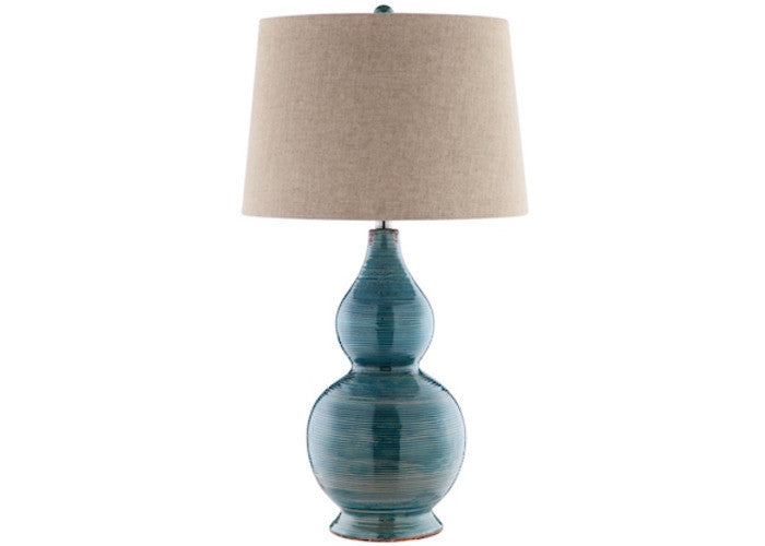 99784 - Harriett Turquoise Blue Table Lamp