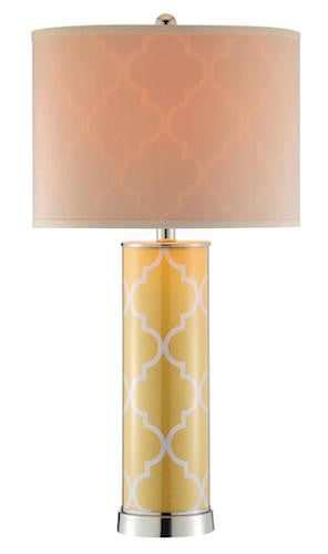 99853 - Casablanca Buttercup Yellow Table Lamp