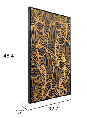 Gold Flora Wall Decor