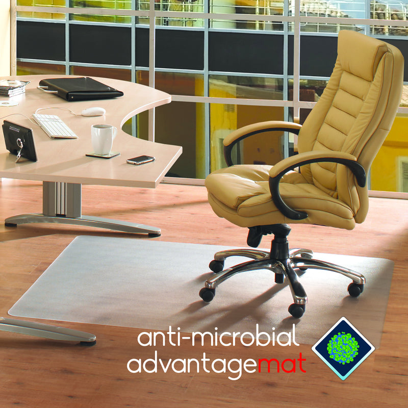Anti-Microbial Advantagemat Rectangular Chair mat for Hard Floors, Floor Mats, FloorTexLLC, - ReeceFurniture.com - Free Local Pick Ups: Frankenmuth, MI, Indianapolis, IN, Chicago Ridge, IL, and Detroit, MI