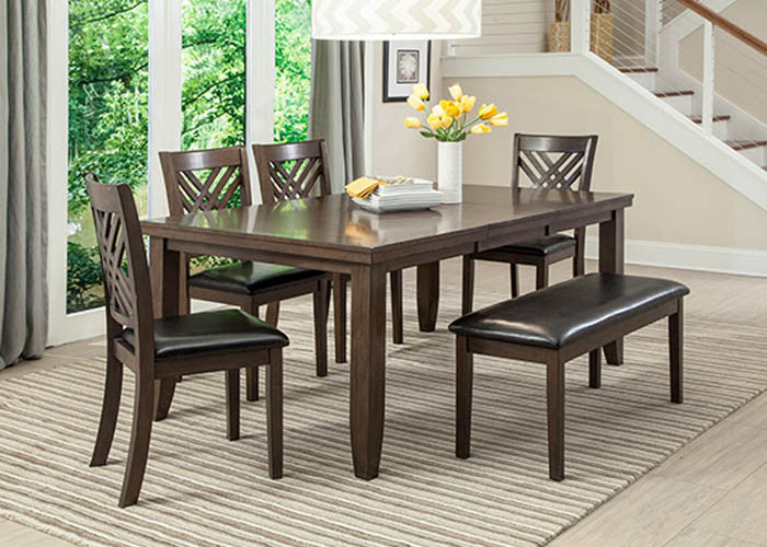 C1632D-5PC Dark Brown Dining Table & 4 Chairs, Dining, AMERICAN IMPORTS, - ReeceFurniture.com - Free Local Pick Ups: Frankenmuth, MI, Indianapolis, IN, Chicago Ridge, IL, and Detroit, MI
