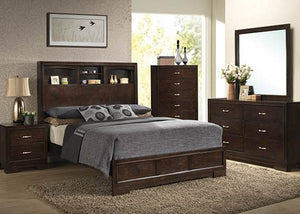 C4233A Walnut Bedroom - ReeceFurniture.com