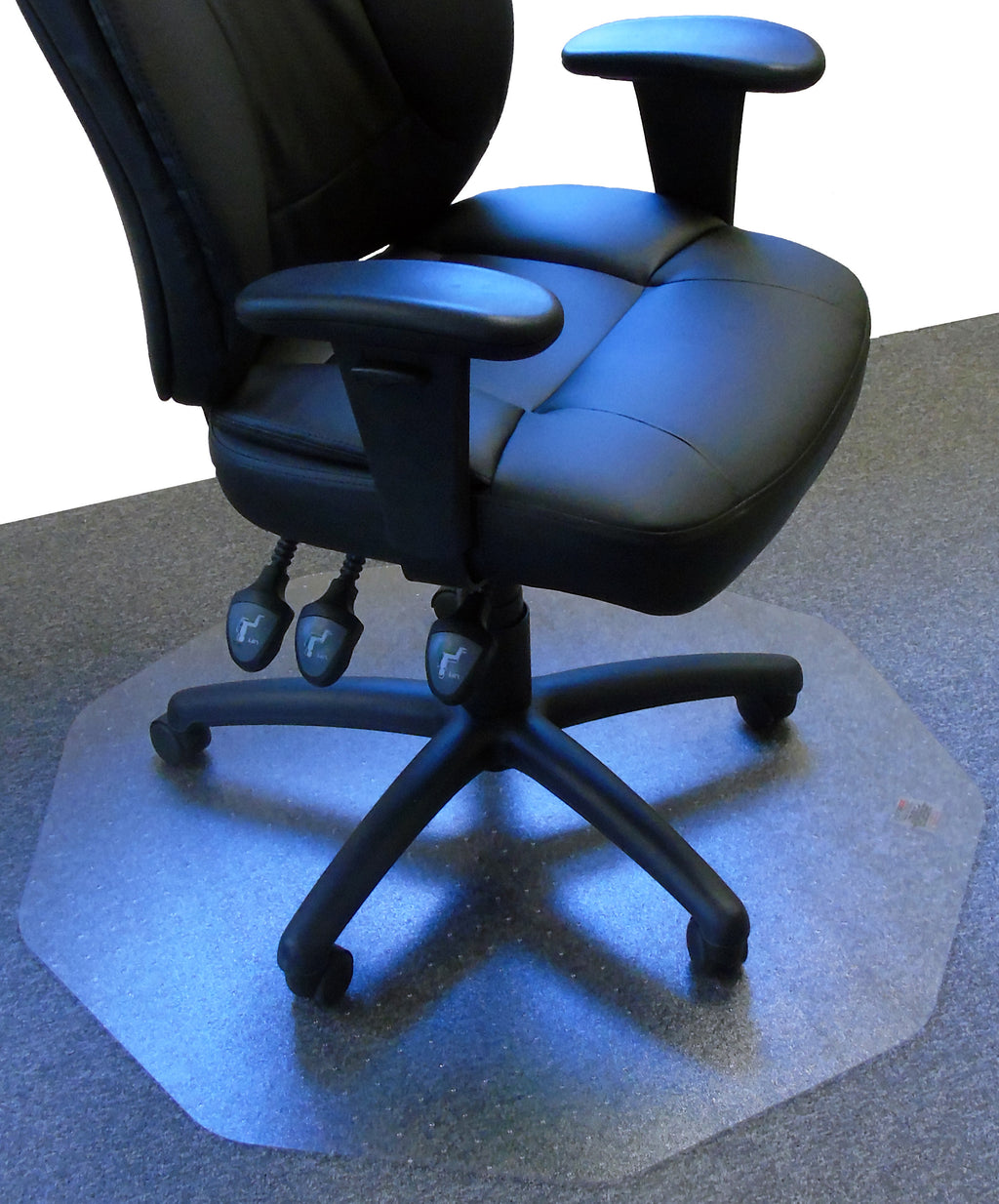 "Cleartex 9Mat Ultimat Polycarbonate Chair mat for Low & Medium Pile Carpets up to 1/2"", Floor Mats, FloorTexLLC, - ReeceFurniture.com - Free Local Pick Ups: Frankenmuth, MI, Indianapolis, IN, Chicago Ridge, IL, and Detroit, MI"