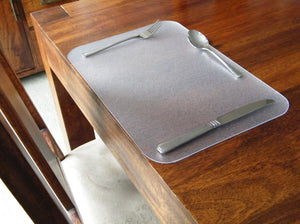 Desktex Anti-Slip Polycarbonate Place Mats Rectangular Shaped, Pack of 4, Floor Mats, FloorTexLLC, - ReeceFurniture.com - Free Local Pick Ups: Frankenmuth, MI, Indianapolis, IN, Chicago Ridge, IL, and Detroit, MI