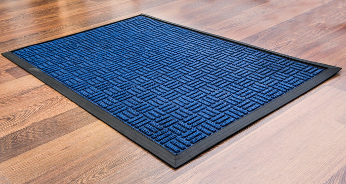 Doortex Ribmat heavy duty Indoor / Outdoor Entrance mat in Blue, Brown, and Charcoal