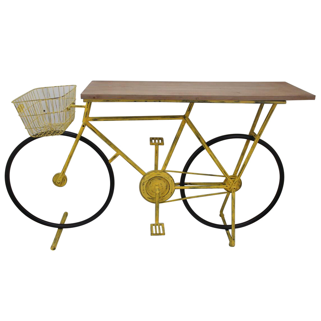 Bicycle Console Table,Yellow