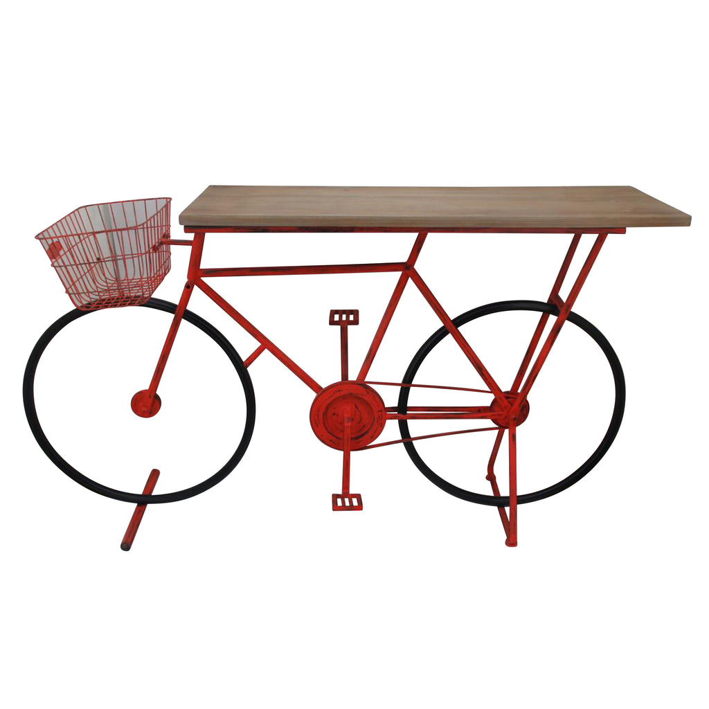 Bicycle Console Table,Red