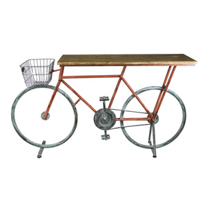 Bicycle Console Table, Red/Blue - ReeceFurniture.com