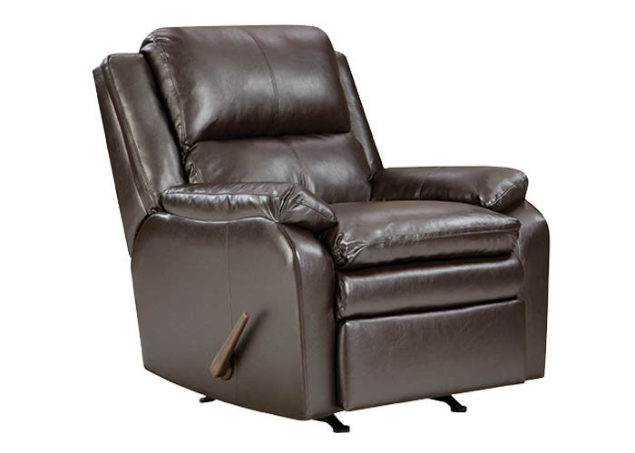 U566 Soho Espresso Rocker/Recliner - ReeceFurniture.com