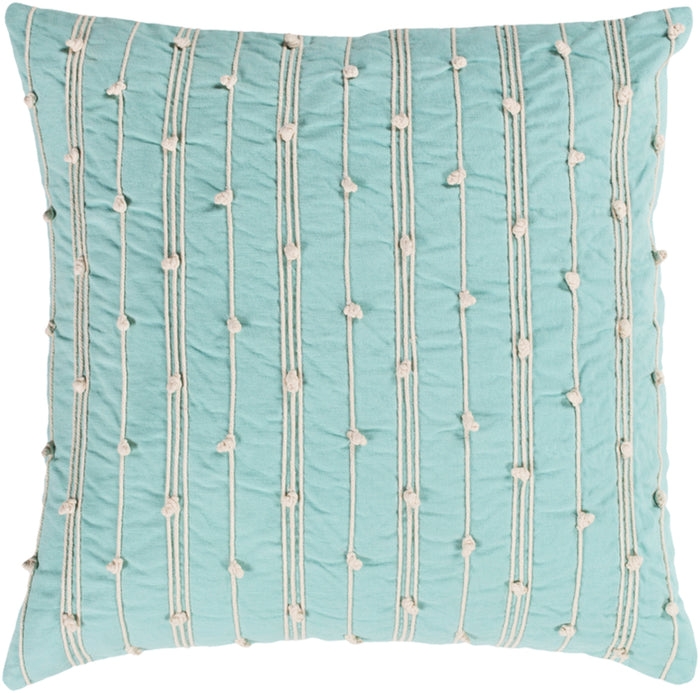 Accretion Pillow Cover - Mint, Cream - ACT001