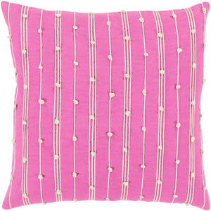 Accretion Pillow Cover - Bright Pink, Cream - ACT003