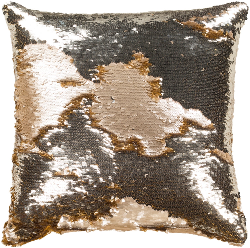 Andrina Pillow Cover - Metallic - Champagne, Metallic - Silver, Metallic - Gold - ADN001 - ReeceFurniture.com