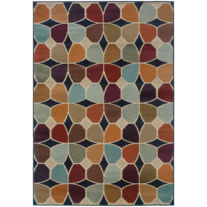 3836E Adrienne Indoor Area Rug Grey/Multi