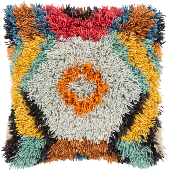 Santiago Pillow Kit - Saffron, Tan, Sea Foam, Bright Orange, Black, Emerald, Burnt Orange, Beige, Sky Blue, Bright Red - Poly - AGD002