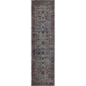 6846B Andorra Indoor Area Rug Blue/ Purple - ReeceFurniture.com