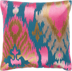 Ara Pillow Kit - Bright Pink, Teal, Tan, Taupe - Down - AR144