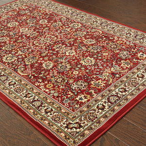 113R3 Ariana Indoor Area Rug Red/Ivory