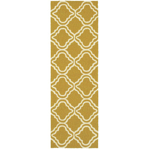 51112 Tommy Bahama Atrium Indoor/Outdoor Rug Gold/Ivory