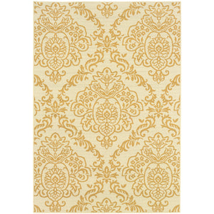 8424J Bali Indoor/Outdoor Rug Ivory/Gold