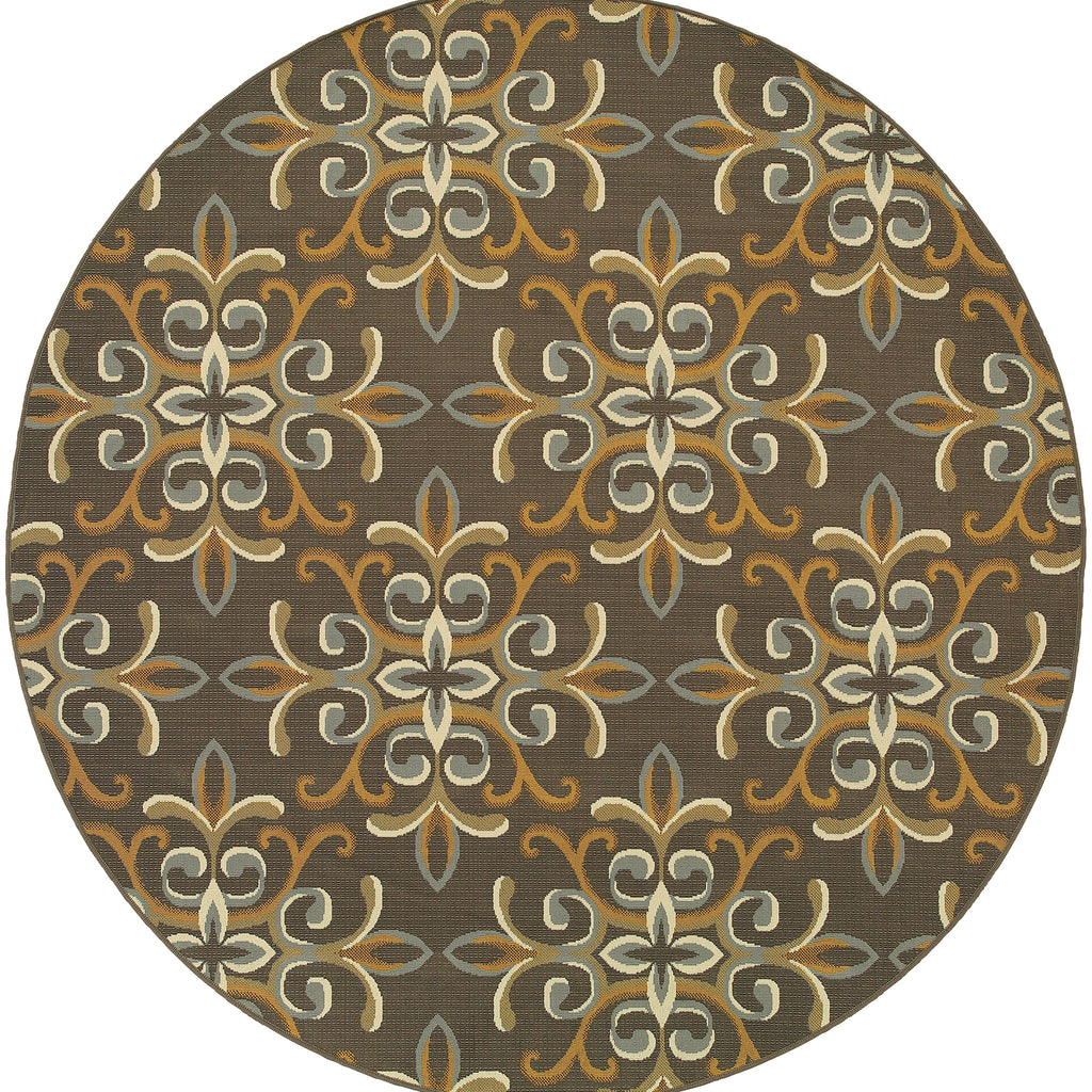 8990H Bali Indoor/Outdoor Rug Grey/Gold