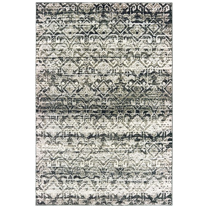 042H2 Bowen Indoor Area Rug Grey/ Ivory