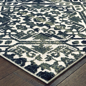 5506E Bowen Indoor Area Rug Navy/ Ivory