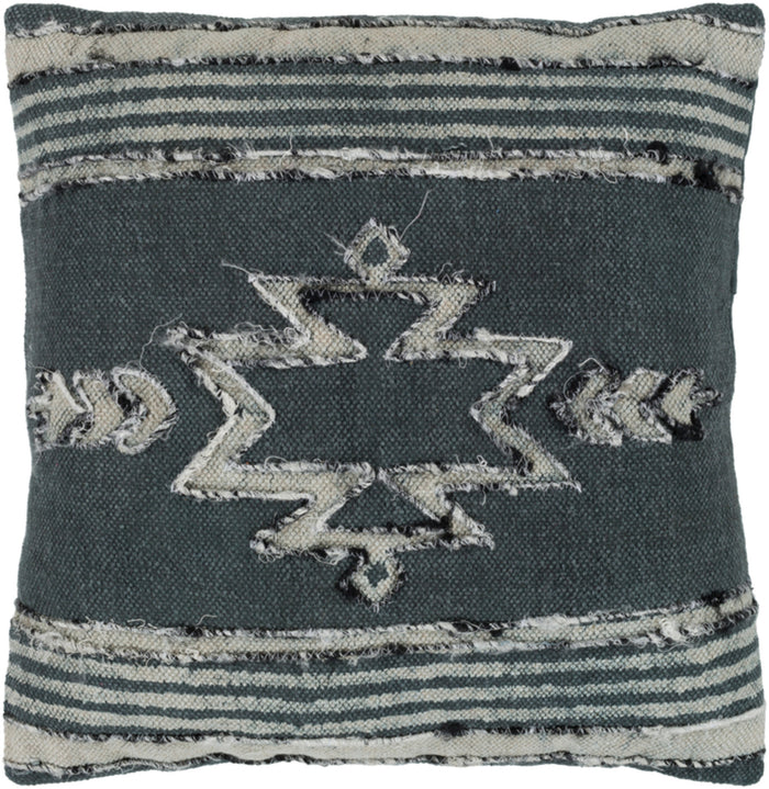 Batu Pillow Cover - Charcoal, Medium Gray, Black, White - BTU003