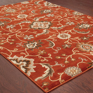 4471B Casablanca Indoor Area Rug Red/Multi